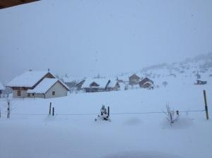 Il y a beaucoup de neige!